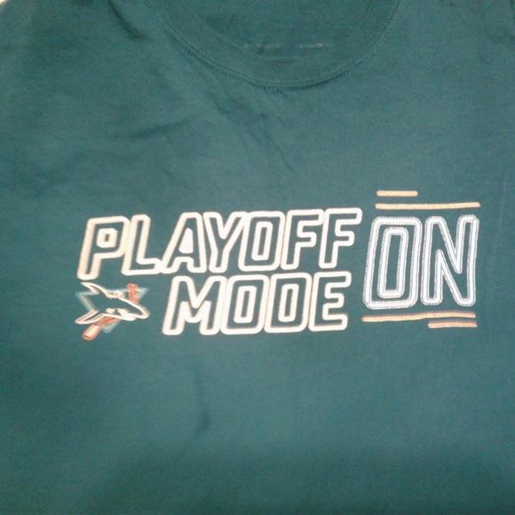 reputable site 2d47e f9dad San Jose Sharks Playoff Mode Shirt